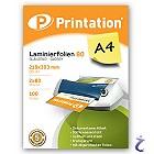 Printation Laminierfolien A4 2x 80 mic 303x216mm - 100 Laminiertaschen