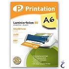 Printation Laminierfolien A6 2x 80 mic 111x154mm - 100 Laminiertaschen