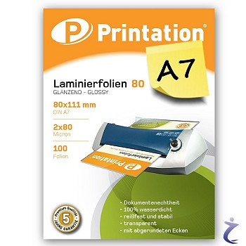 1000 Laminiertaschen Printation Laminierfolien A3 2x 80my 426 x 303mm