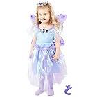 Märchenhaftes Feen Mädchen Kleid violett - Hochwertiges Kostüm Set