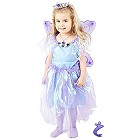 Märchenhaftes Feen Mädchen Kleid violett - Fee Kostüm Set - 122
