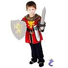 Ritter Verkleidung für Jungen  Hochwertiges, mittelalterliches Kinder Kostüm Set