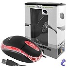 Eaxus kompakte, optische USB Maus mit LED Beleuchtung in Schwarz