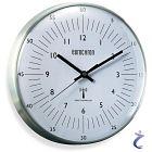 Eurochron Funk Wanduhr EFWU 555 N Aluminium  DCF Funkuhr 204202 8765c6