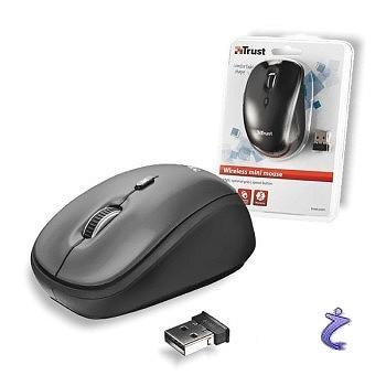 Trust Wireless Mouse Yvi - Kompakte Maus, optisch, drahtlos 2,4 GHz