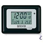 Eurochron Funk Wecker HK 212 Schwarz/Silber - DCF Funkwecker